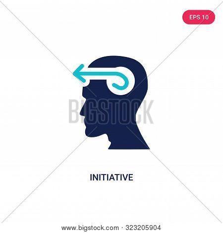 initiative icon in two color design style.
