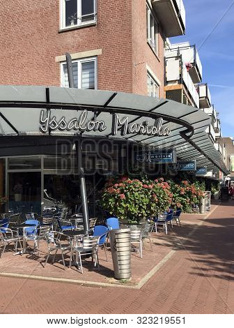 Almere Haven, The Netherland - September 20, 2019: Ice Cream Parlour Mariola In The City Of Almere.