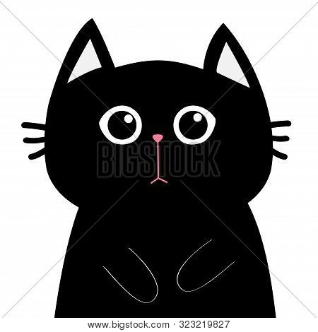 Black Cat Face Head Vector Photo Free Trial Bigstock