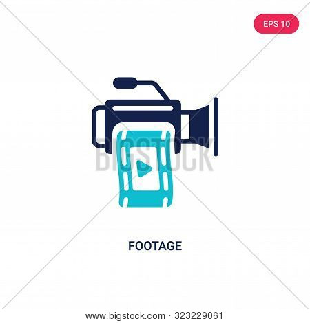footage icon in two color design style. poster