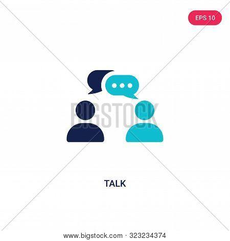 talk icon in two color design style.