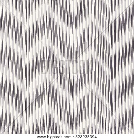 Seamless Pattern Hand Drawn Chevron Stripe Background. Animal Skin Texture Allover Print. Vector Zig