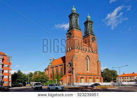 Eskilstuna, Sweden - September 13, 2019: Exterior View Of The Swedish Church Kloster Church Building