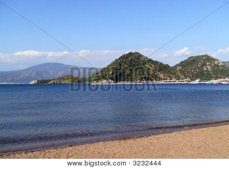 Beach Scene Icmeler Turkey