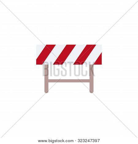Sign And Symbol Of Road Barrier And Fence For Blocking Street, Construction And Safety.