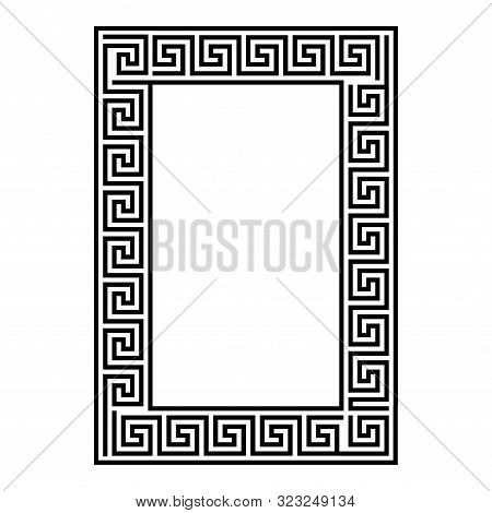Greek Key Rectangle Frame. Greek Border. Vector