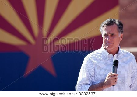 Mitt Romney Campaigns In Arizona Before Hispanics
