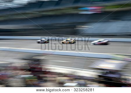September 07, 2019 - Indianapolis, Indiana, USA: Justin Haley (11) battles for position down the front stretch for the Indiana 250 at Indianapolis Motor Speedway in Indianapolis, Indiana.