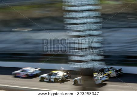 September 07, 2019 - Indianapolis, Indiana, USA: Austin Dillon (10) battles for position down the front stretch for the Indiana 250 at Indianapolis Motor Speedway in Indianapolis, Indiana.