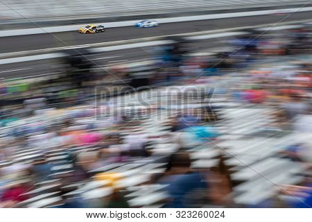 September 08, 2019 - Indianapolis, Indiana , USA: Clint Bowyer (14) battles for position down the front stretch for the  Big Machine Vodka 400 at the Brickyard at Indianapolis Motor Speedway