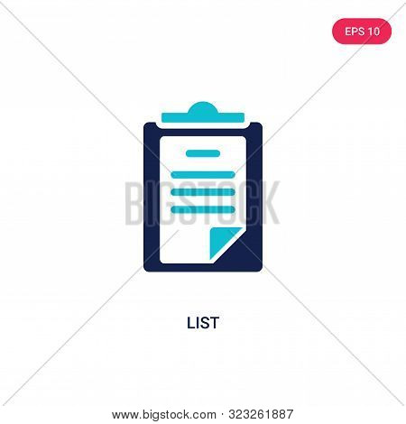 list icon in two color design style.