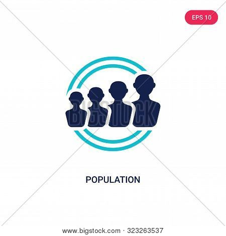 population icon in two color design style.