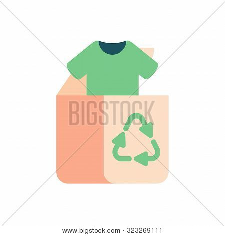 Green Concept Of Recycle Clothes And Textile. Old Clothing And Fabric For Repurpose And Re-use.