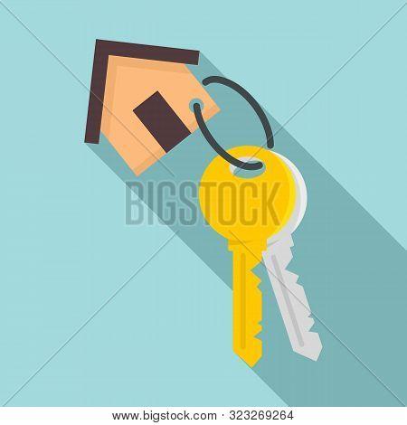 House Keys Mortgage Icon. Flat Illustration Of House Keys Mortgage Vector Icon For Web Design
