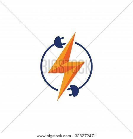 Electricity Logo, Electric Logo And Icon Vector Design Template. Plug Creative Concept Logo Design T