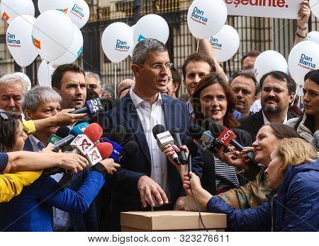 Bucharest, Romania - September 20, 2019: Dan Barna (s), Co-chairman Of 2020 Usr-plus Alliance, Speak