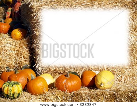 Pumkin Fall Frame With Clear Space