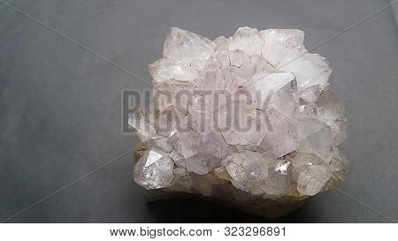 Amethyst Crystal Cluster Healing Stone. An Amethyst Crystal Is A Natural Stress Reliever That Encour