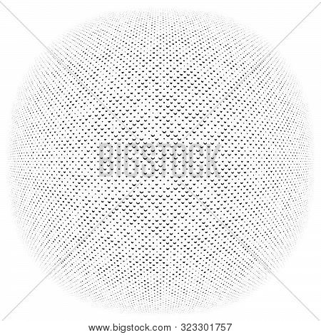 3D Circular Burst. Convex Globe, Sphere, Orb Distort. Inflate Design Pattern. Radiation, Bulge, Bloa