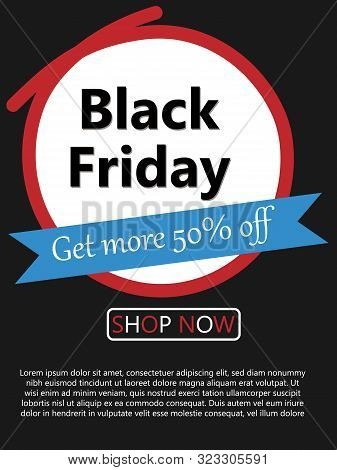 Abstract Vector Art Design Black Friday Sale Layout Background. Black Friday Advertise Poster For Te