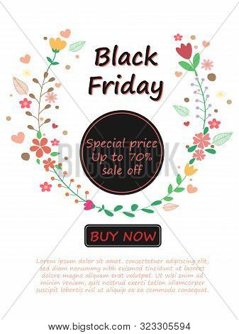 Sweet And Cute Vector Art Design Black Friday Sale Layout Background. Black Friday Poster For Templa