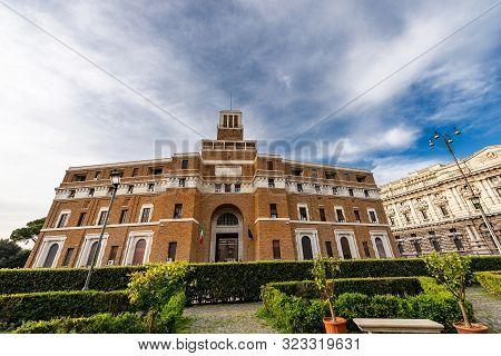 Rome, Italy - April 20, 2019: Supervisory Court (tribunale Di Sorveglianza - Italian) And Supreme Co