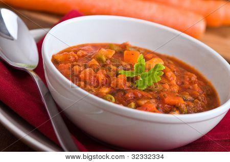 Vegetable soup.