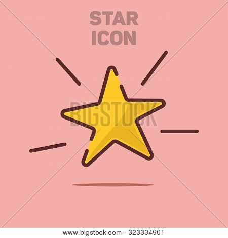 Isolated Flat Star Icon Vector Illustration Background