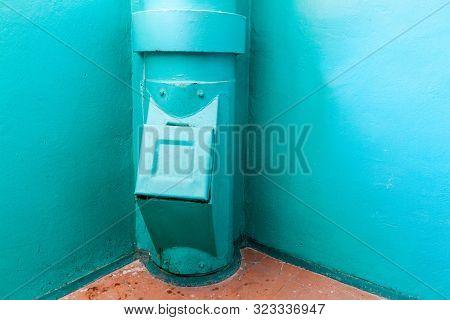 Garbage Chute In An Apartment Building In Minsk, Belarus