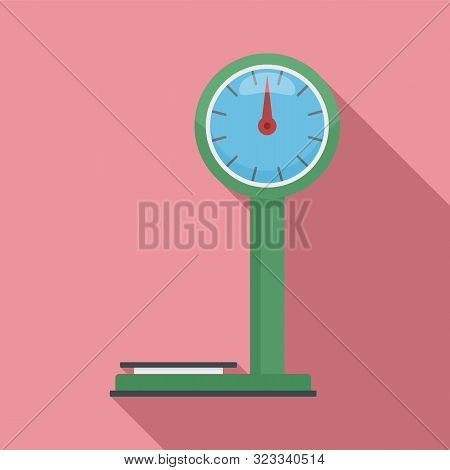 Market Weight Scales Icon. Flat Illustration Of Market Weight Scales Vector Icon For Web Design