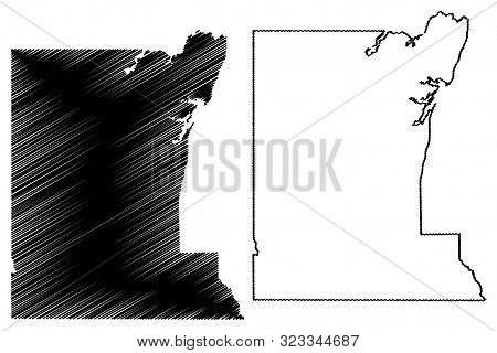 Rusk County, Texas (counties In Texas, United States Of America,usa, U.s., Us) Map Vector Illustrati
