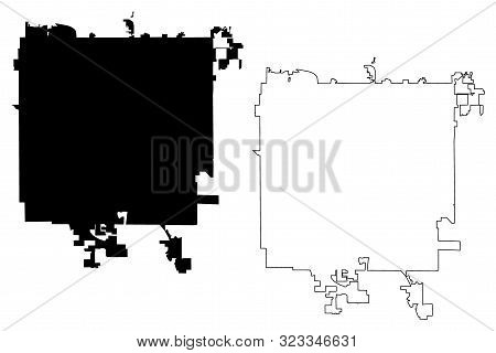 Des Moines City ( United States Cities, United States Of America, Usa City) Map Vector Illustration,