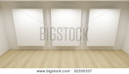 Medical room, 3d art with empty space