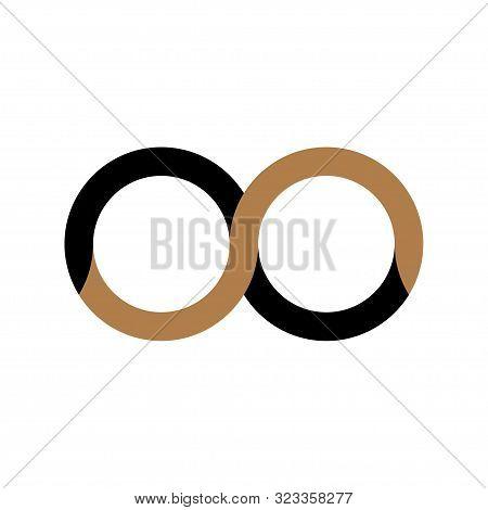 Infinity Vector Logo Symbol On White Background.