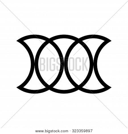 Circle Chain Icon On A White Background.