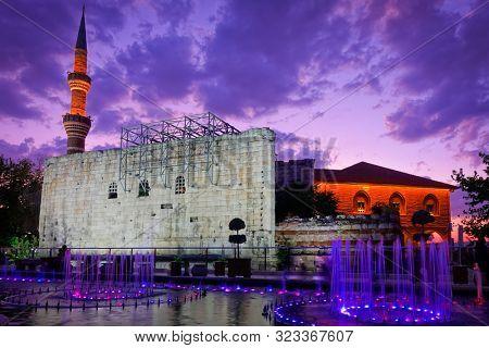 Hacibayram Mosque at night - Ankara, Turkey