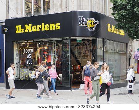 London - Sep 2019: Dr Martens Storefront