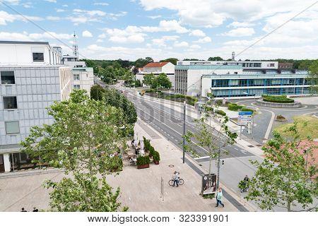 Wolfsburg, Germany - June 8, 2019: Landmark View In Wolfsburg.