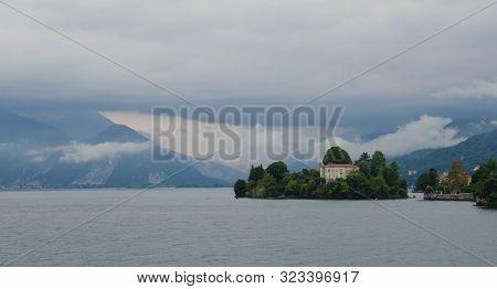 Island Of Saint Giovanni, Lake Maggiore, Italy. 19th August 2019. The Beautiful Island Of San Giovan