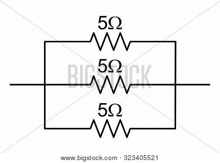 The Illustration Of A Simple Circuit With Resistors