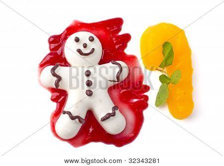 Cookies Man With Jam And Cake