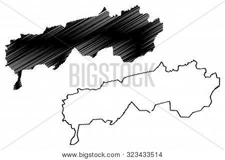 Districts Of Republican Subordination (republic Of Tajikistan, Regions Of Tajikistan) Map Vector Ill