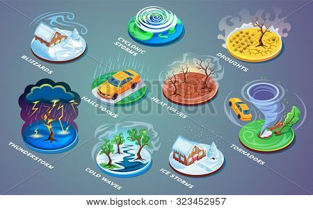 Meteorological Disaster Or Extreme Weather, Natural Catastrophe Or Cataclysm, Rain Or Wind Problem.