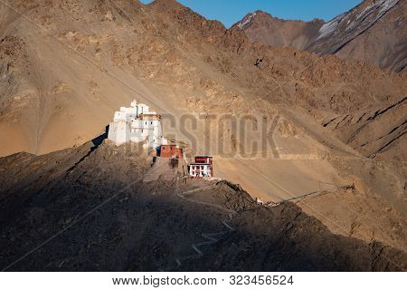 Namgyal Tsemo Gompa, Buddhist Monastery In Leh, Located In Northern India State Of Jammu And Kashmir