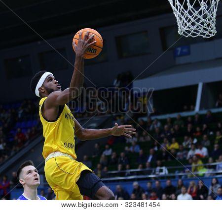 Kyiv, Ukraine - September 20, 2019: Kasey Shepherd Of Bc Kyiv Basket In Action During The Fiba Baske