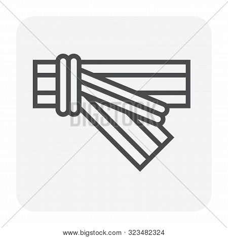 Hdpe Pipe And Connection Joint Icon Design, Editable Stroke.