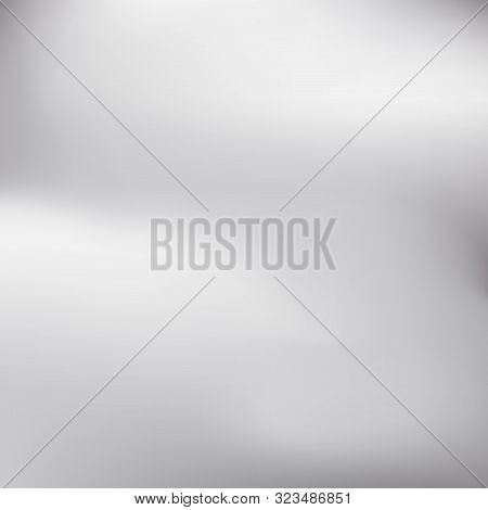 Silver Gradient Background Icon Texture Metallic. Silver Blurred Gradient Style Background. Abstract