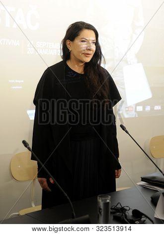 Belgrade, Serbia - September 21st 2019: Serbian Performance Artist, Writer, And Art Filmmaker Marina