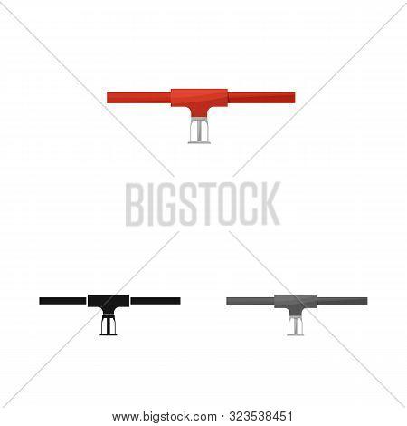 Vector Design Of System And Sprinkler Symbol. Set Of System And Suppression Stock Symbol For Web.