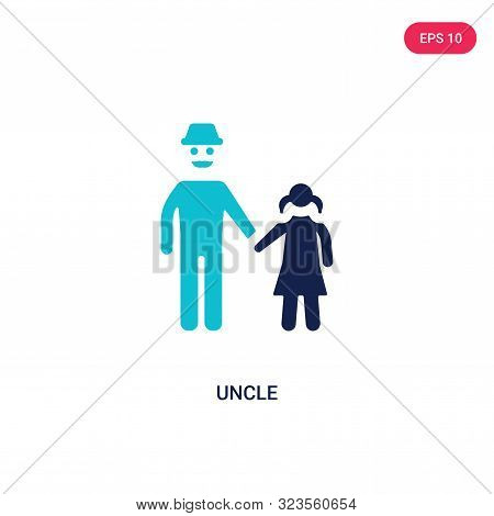 uncle icon in two color design style.